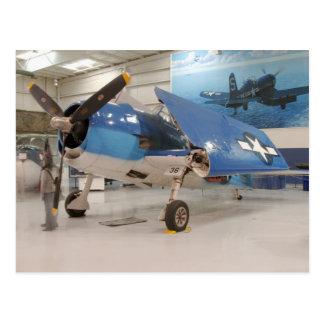 An F-6F Hellcat World War II fighter plane at Postcard