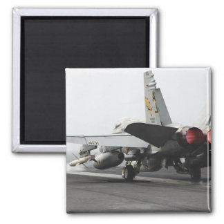 An F/A-18C Hornet launches from the flight deck 2 2 Inch Square Magnet