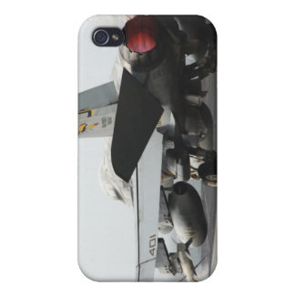 An F/A-18C Hornet launches from the flight deck 2 iPhone 4 Cases