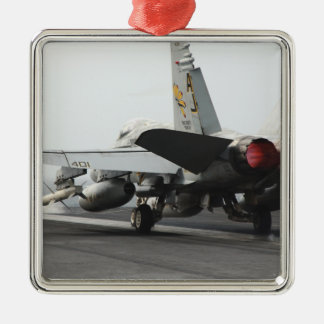 An F/A-18C Hornet launches from the flight deck 2 Metal Ornament