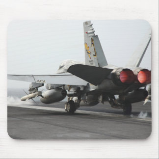 An F/A-18C Hornet launches from the flight deck 2 Mouse Pad