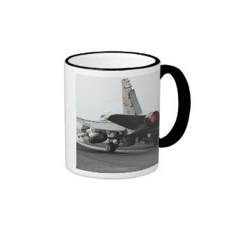 An F/A-18C Hornet launches from the flight deck 2 Ringer Mug
