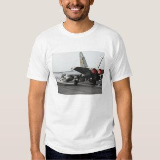 An F/A-18C Hornet launches from the flight deck 2 T-Shirt