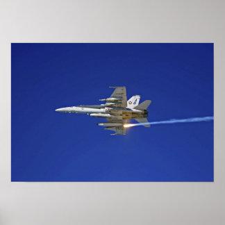 An F/A-18C Hornet Poster