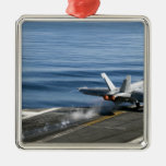 An F/A-18E Super Hornet Christmas Tree Ornament