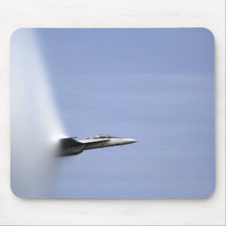 An F/A-18E Super Hornet reaches the speed of so Mouse Pad