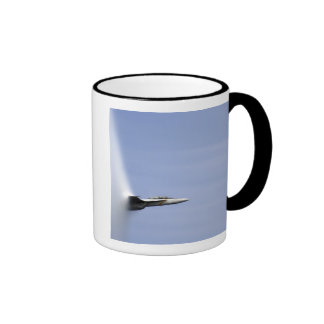 An F/A-18E Super Hornet reaches the speed of so Ringer Mug