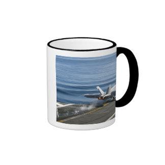 An F/A-18E Super Hornet Ringer Mug