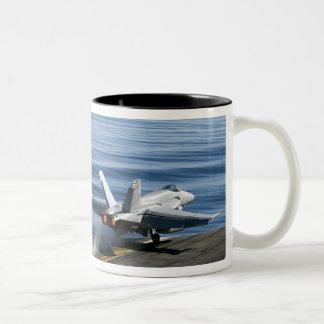 An F/A-18E Super Hornet Two-Tone Coffee Mug
