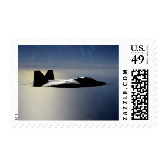 An F/A-22 Raptor flies a training mission 2 Postage Stamp