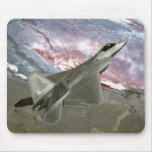An F/A-22 Raptor flies a training mission Mouse Pad