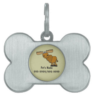 AN- Funny Moose Pet Tag or Keychain