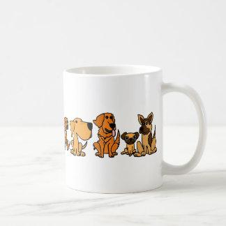 AN- Funny Rescue Dogs Group Cartoon Coffee Mug