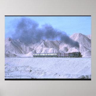 An HGS 2-8-0 is seen in barren_Steam Trains Poster
