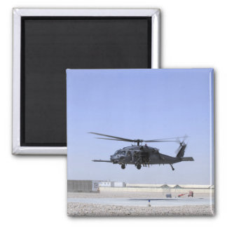 An HH-60G Pave Hawk taking off from Camp Bastio 2 Inch Square Magnet