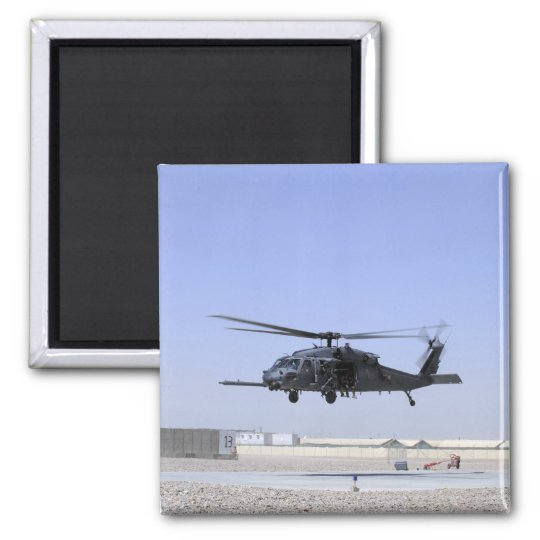 An HH-60G Pave Hawk taking off from Camp Bastio Magnet