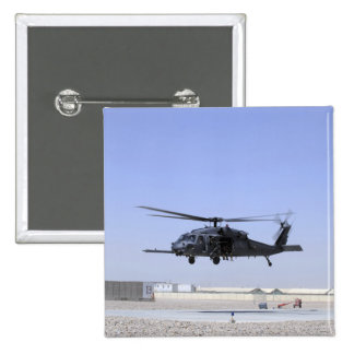 An HH-60G Pave Hawk taking off from Camp Bastio Pinback Button