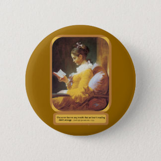 An Hour Reading Pinback Button