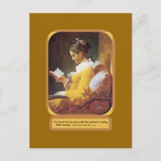 An Hour Reading postcard