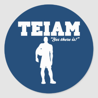 An I in Team Classic Round Sticker