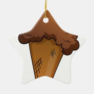an Ice-cream Double-Sided Star Ceramic Christmas Ornament