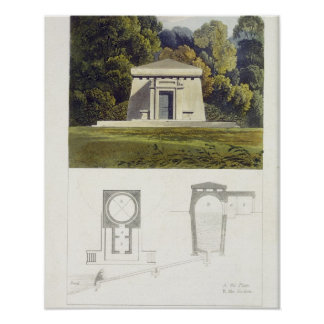 An Ice House, from Ackermann's 'Repository of Arts Poster