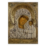 An icon showing the Virgin of Kazan Greeting Cards