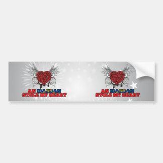 An Idahoan Stole my Heart Car Bumper Sticker