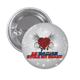 An Idahoan Stole my Heart Pinback Buttons