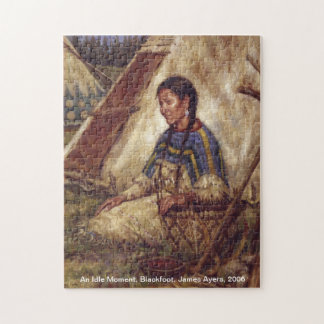 An Idle moment, Native American woman puzzle