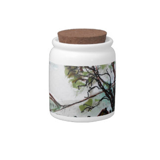 An Idyllic British Village sketch Candy Jar