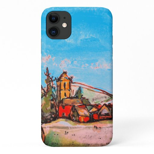 An Idyllic British Village sketch iPhone 11 Case