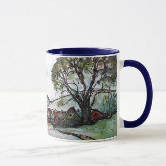 An Idyllic British Village sketch Mug
