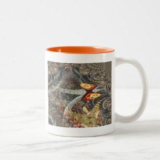 An Illusionary Pumpkin Fractals Two-Tone Coffee Mug