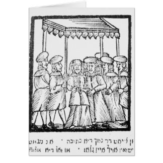 An illustration of a Jewish wedding Cards