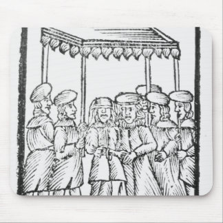 An illustration of a Jewish wedding Mouse Pads