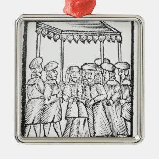 An illustration of a Jewish wedding Ornaments