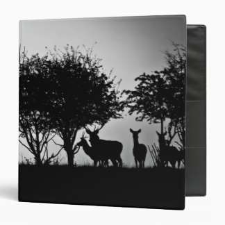 An image of some deer in the morning mist binder