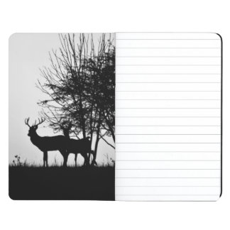 An image of some deer in the morning mist journal