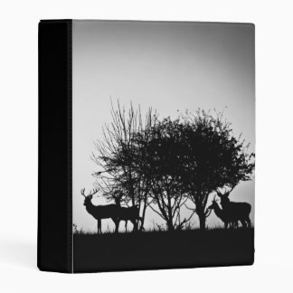 An image of some deer in the morning mist mini binder