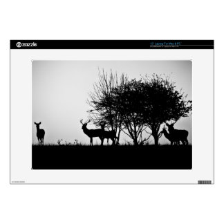 """An image of some deer in the morning mist skins for 15"""" laptops"""