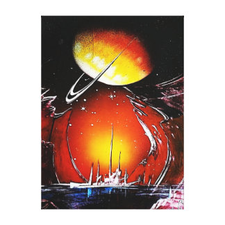 AN IMAGINARY PLANET CANVAS PRINT