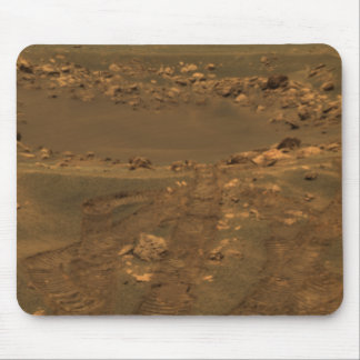 An impact crater in the Meridian Planum region Mouse Pad