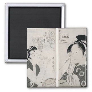 An impertinent woman,series Kyokun oya no 2 Inch Square Magnet
