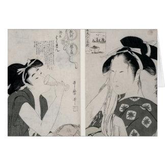 An impertinent woman,series Kyokun oya no Greeting Card