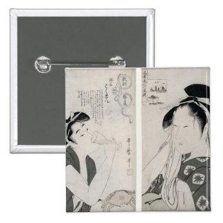 An impertinent woman,series Kyokun oya no Pinback Button