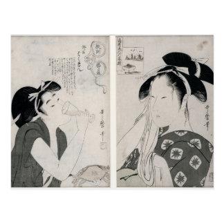 An impertinent woman,series Kyokun oya no Postcard