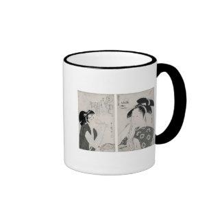 An impertinent woman,series Kyokun oya no Ringer Mug