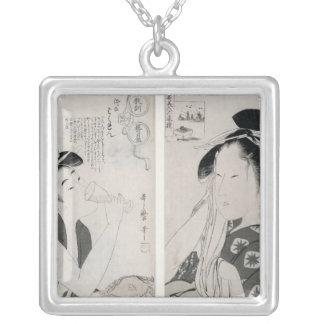 An impertinent woman,series Kyokun oya no Square Pendant Necklace