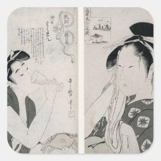 An impertinent woman,series Kyokun oya no Square Sticker